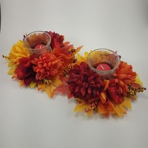 Other - Harvest Home Decor Candle Holders